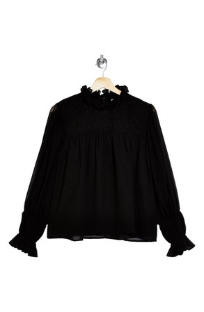 Topshop Beaded Yoke Blouse | Nordstrom