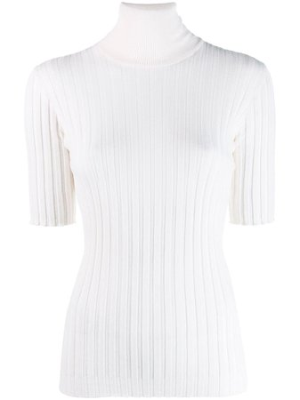 White Bottega Veneta Turtle Neck Sweater | Farfetch.com