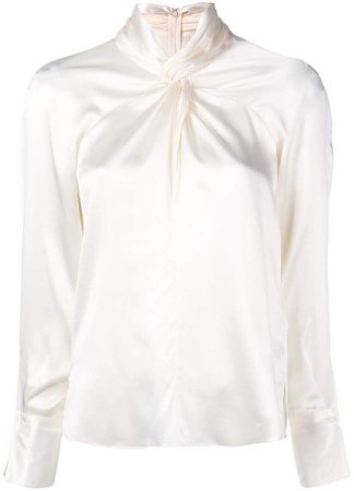 ruched fitted blouse