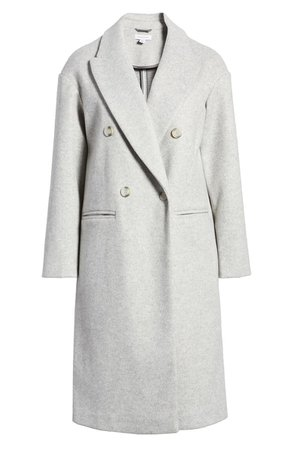 Topshop Brooke Double Breasted Long Coat | Nordstrom