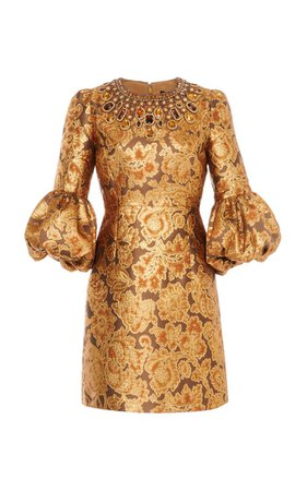 Crystal-Embellished Floral Brocade Mini Dress By Andrew Gn | Moda Operandi