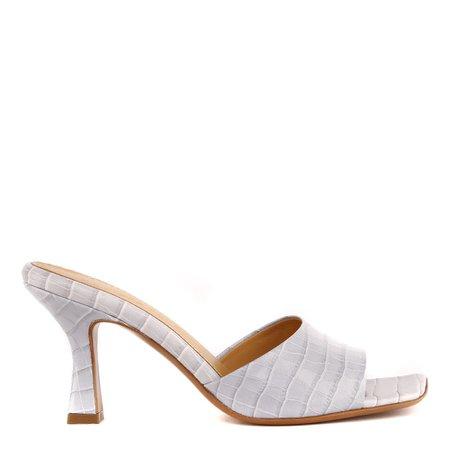 Aldo Castagna Embossed Leather Open Toe Sandals