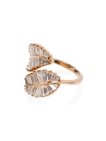 Anita Ko 18Kt Rose Gold Diamond Palm Leaf Ring | Farfetch.com
