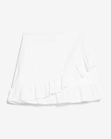High Waisted Ruffle Mini Skirt | Express