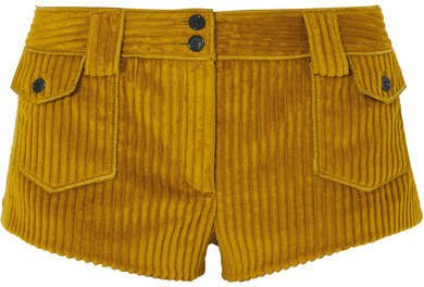 Corduroy Shorts - Yellow