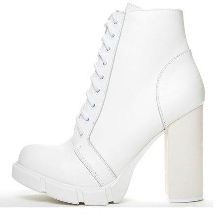 White Combat Boot Heels