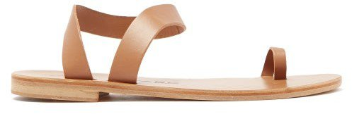 Angela Leather Sandals - Tan