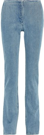 Laban Faded Mid-rise Straight-leg Jeans