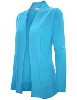 GRACE KARIN Women's Long Sleeve Open Front Knitting Kimono Cardigan with Pockets at Amazon Women's Clothing store