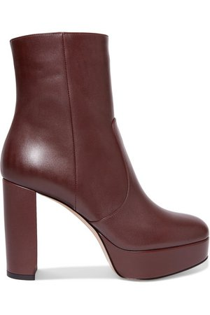 Gianvito Rossi | Leather platform ankle boots | NET-A-PORTER.COM