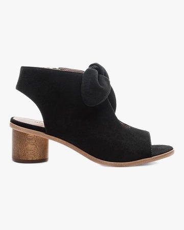 Suede Luna Peep-Toe Sandal