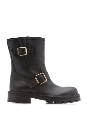 Youth Ii Buckle-Detailed Leather Boots By Jimmy Choo | Moda Operandi