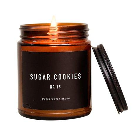 Sugar Cookies Amber Jar Candle Fresh Baked Sugar Cookie | Etsy