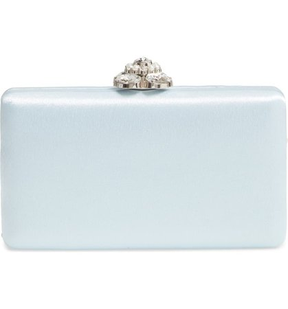 Nordstrom Crystal Imitation Pearl Clasp Box Clutch   Nordstrom