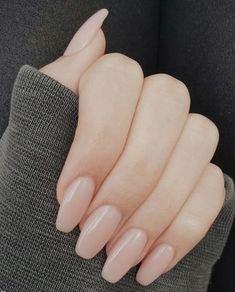 Nude stiletto nails