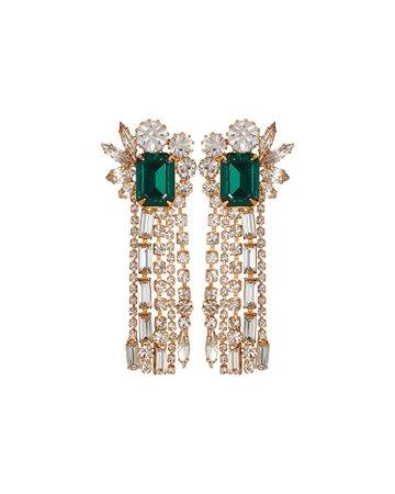 Leigh Crystal Fringe Earrings