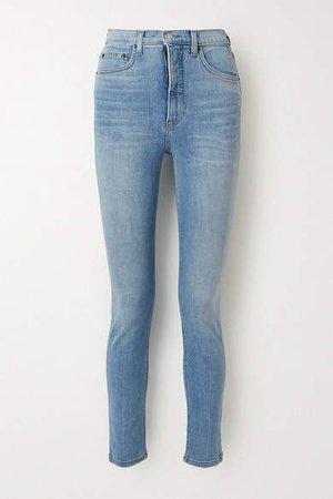 High-rise Skinny Jeans - Light denim