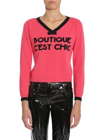 Boutique Moschino V Collar Sweater
