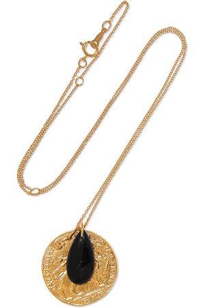 Alighieri | Gold-plated onyx necklace | NET-A-PORTER.COM