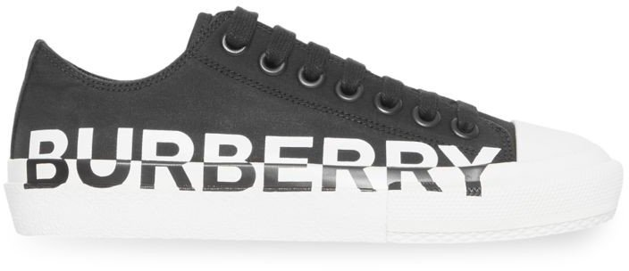 Larkhall Logo Leather Sneakers