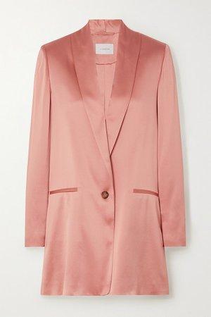 La Collection   Amandine silk-satin blazer   NET-A-PORTER.COM