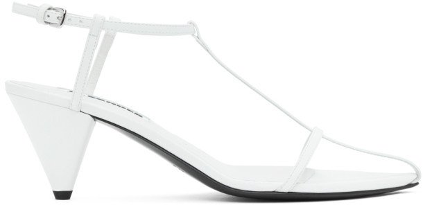 White Pointy Toe Heeled Sandals