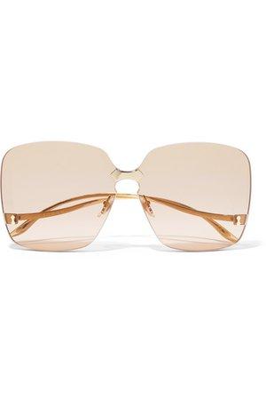 Gucci   Square-frame gold-tone sunglasses   NET-A-PORTER.COM