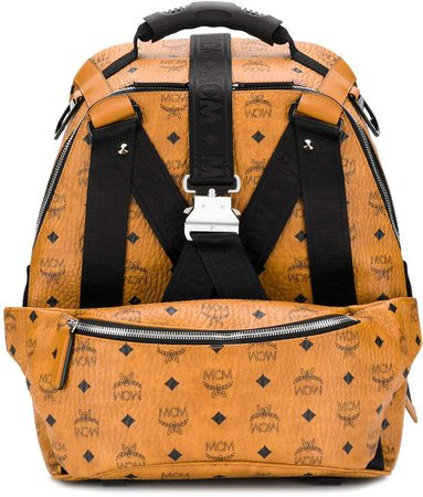 Logo Textured Backpack