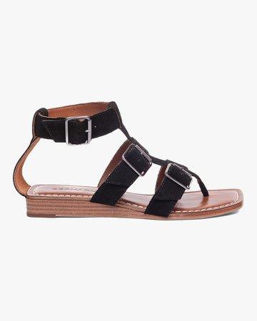 Black Suede Osten Sandal