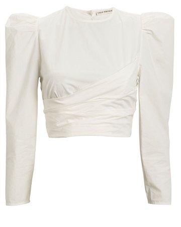 Ulla Johnson | Eden Cropped Cotton Blouse | INTERMIX®