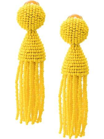 Oscar de la Renta beads drape earrings SS19 - Shop Online Now - Fast AU Delivery