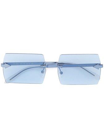 Karen Walker The Bird sunglasses blue KAS1801773 - Farfetch