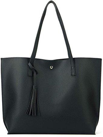 Amazon.com: Nodykka Women Tote Bags Top Handle Satchel Handbags PU Pebbled Leather Tassel Shoulder Purse: Shoes