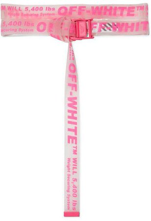 Off-White - Neon Printed Pvc Belt - Bright pink