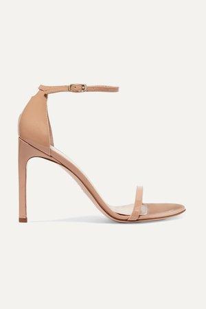 Beige NudistSong patent-leather sandals | Stuart Weitzman | NET-A-PORTER