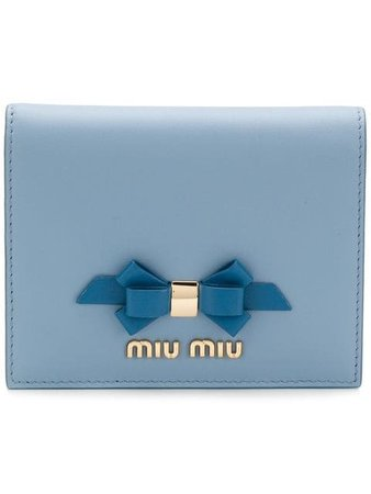 Miu Miu logo bow wallet £260 - Shop Online - Fast Delivery, Free Returns