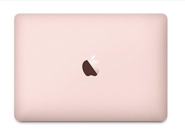 rose gold Mac book