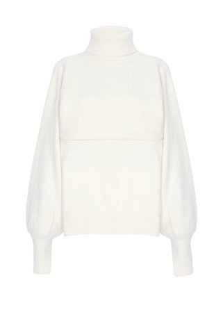 Winter White Two Piece Turtleneck Sweater – The Frankie Shop