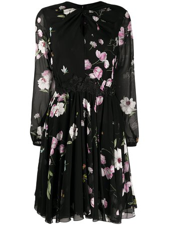 Shop black Giambattista Valli sheer floral dress with Express Delivery - Farfetch