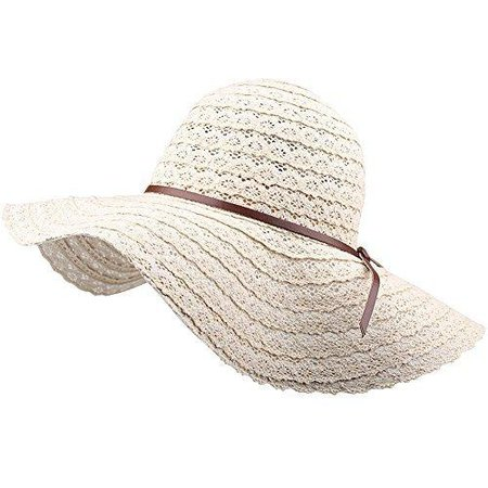 Summer Beach Sun Hats For Women - FURTALK UPF Woman Foldable Floppy Tr