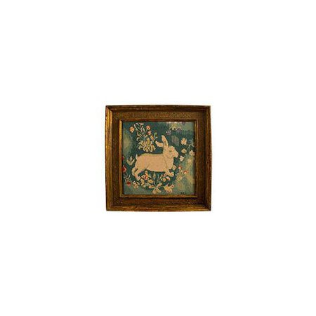 rabbit painting vintage png filler