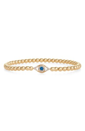 Nadri Evil Eye Beaded Stretch Bracelet | Nordstrom