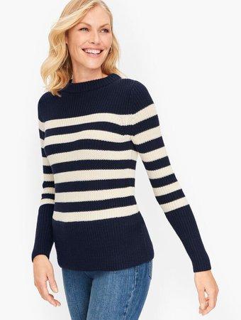Shaker Stitch Sweater - Stripe   Talbots