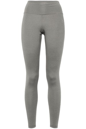 Gray Mélange stretch leggings | Sale up to 70% off | THE OUTNET | ADIDAS | THE OUTNET