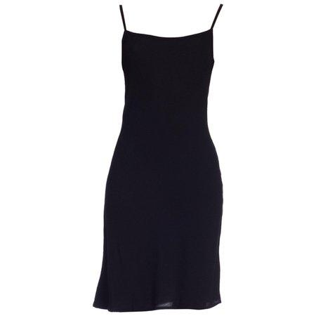 1990s Ghost Bias Rayon Crepe Kate Moss Style Slip Dress