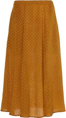 byTiMo Polka-Dot Satin-Jacquard Skirt