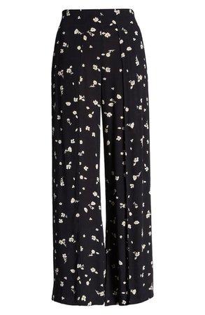 Billabong Split Spirit Floral Wide Leg Pants | black