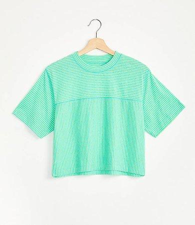 Striped Softserve Slub Cropped Tee | Lou & Grey