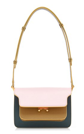 Marni Trunk Color-blocked Small Leather Bag