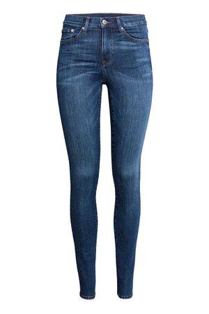 Shaping Skinny Regular Jeans   Dark blue   LADIES   H&M NZ